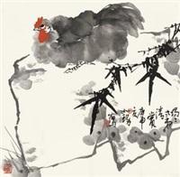 大吉图 镜心 设色纸本 by cui ruzhuo