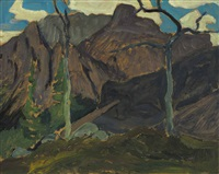 part of cathedral mountain by james edward hervey macdonald