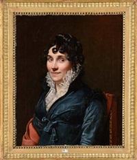 portrait d'une dame de qualité de la famille hemptinne by françois joseph navez