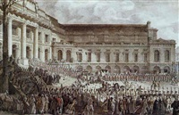 charles philippe d'artois sortant de la chambre des aides de paris, le 17 août 1787 by philippe meusnier