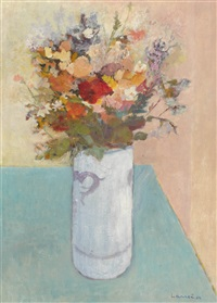 bouquet à la table bleue by alphonse lanoe