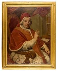ritratto di papa benedetto xiv by giuseppe azzi