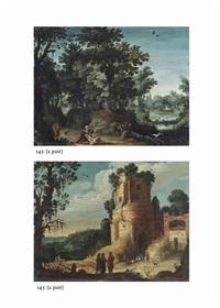 the good samaritan (+ the road to emmaus; pair) by paul bril