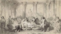 study for the decadence of the romans by thomas couture