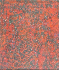 composition in red by anwar jelal shemza