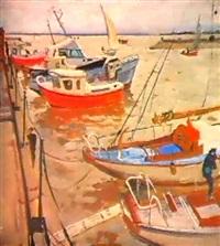 les voiliers a quai by alexander alkhovsky