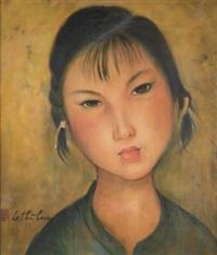 portrait de jeune femme by le thi luu