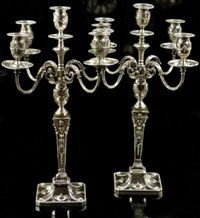 candelabra (pair) by thomas a. scott
