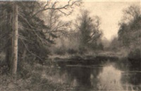 a tranquil river landscape by walter boodle
