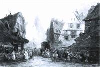 marché à rouen by paul denarie