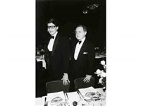 yves st. laurent et pierre bergé, paris by daniel simon