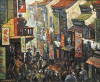 street scene, pekin (china) by geoffrey graham