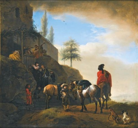 departure for the chase by philips wouwerman