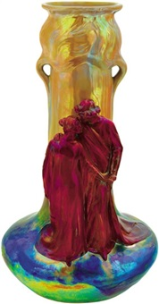 vase with loving couple décor by lajos mack