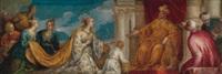 the queen of sheba before solomon by bonifazio de pitati
