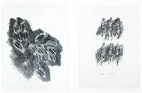 vegetazione e sei figure (2 works) by ennio morlotti