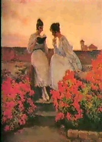 jovenes leyendo en el atico, entre             flores jojas by tomás muñoz lucena