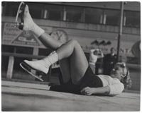 prague, patineuse sur glace (4 works) by vaclav jiru