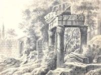 landscape with roman ruins by willem von bemmel