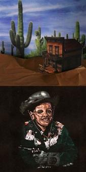 portrait et décor (cowboy) by simon zagari