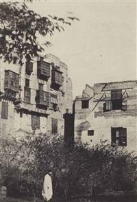 gustave flaubert, le caire, maison et jardin dans le quartier frank, pl.3 (from egypte, nubie, palestine et syrie) by maxime du camp