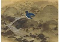 water bathing of bird by ryushi kawabata