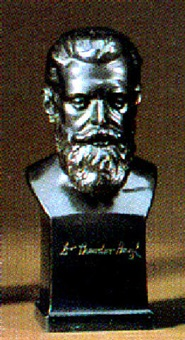 bust of dr. herzl by richard w. lange