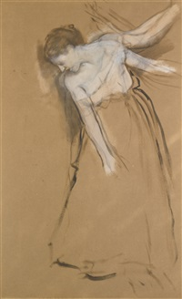 femme debout by edgar degas