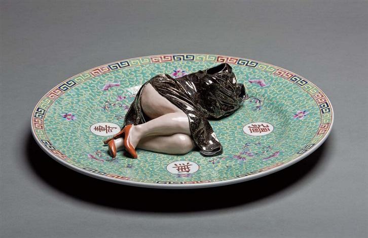 games (polychrome ceramic series) by liu jianhua