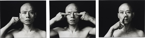 skin cheek eyes nose set of 3 by zhang huan