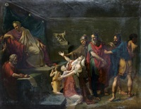 epponine et julius sabinus devant vespasien by francois henri mulard