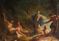 cristo y la samaritana y visión de ezequiel (2 works) by austrian school (18)
