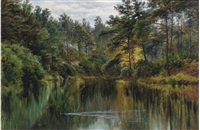 a tranquil stretch of the river by sir john gilbert