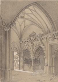 inneres der stiftskirche nonnberg in salzburg by hans makart