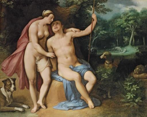 venus and adonis by cornelis cornelisz van haarlem
