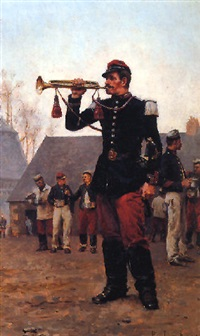 a french cavalry trumpeter by paul léon jazet