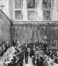 barristers eating their dinners in the temple by john henry frederick bacon