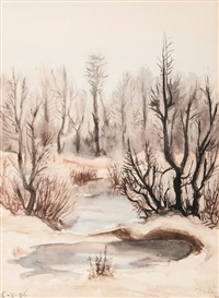 winterly woods by peter dülberg