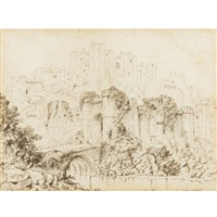 castle udolpho (from mrs radcliffe's the mysteries of udolpho) by james nasmyth