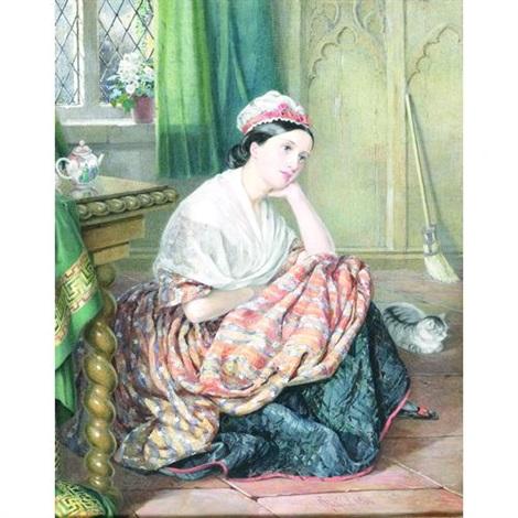 a portrait of miss slade dressed as cinderella by isabel oakley naftel