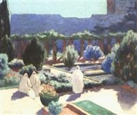 jeunes femmes dans les jardins, tlemcen by mathilde arbey