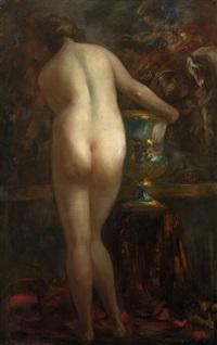 female nude by vitaly gavrilovich tikhov
