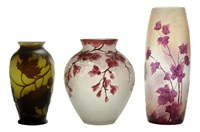vases (3 works) by legras (co.)