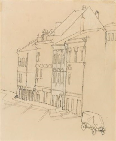 häuser in krumau houses in krumau by egon schiele