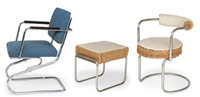 two armchairs and stool (collab. w/heinz rasch) by bodo rasch