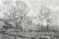 spring landscape by henry rodman kenyon