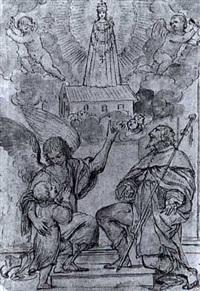 l'apparition de la vierge by lucas de valdes