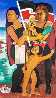 two hina supa heroes by robyn kahukiwa