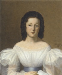 portrait of a girl by adèle lauzier