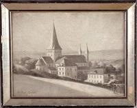 abbaye de saint-martin-de-boscherville by charles frechon